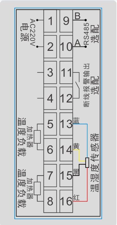 gc-6896智能湿度控制器的接线图