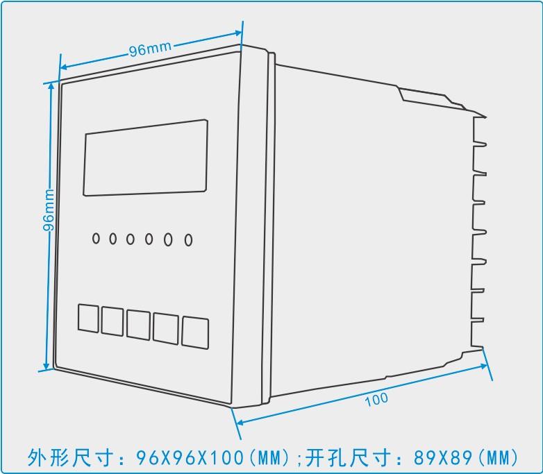 GC-6896系列智能温湿度控制器的接线图  GC-6896系列智能温湿度控制器的外形图  GC-6896系列智能温湿度控制器的安装开孔图  公司拥有标准生产线3条,焊接机3台、超高压发生器4台、耐压仪1台、高精度直流稳压电源2台、微电脑仿真器2套、进口示波器2台、高精度四位万用表10块、自动切脚机2台、高温老化检测室2间等。高压带电显示器月生产能力达500-700台。主要服务于各省市供电局、电力设计院、电力企业。 产品采用微电脑技术,其中主要元器件全部采用美国和日本原装进口,为设备的安全运行提供保证。公