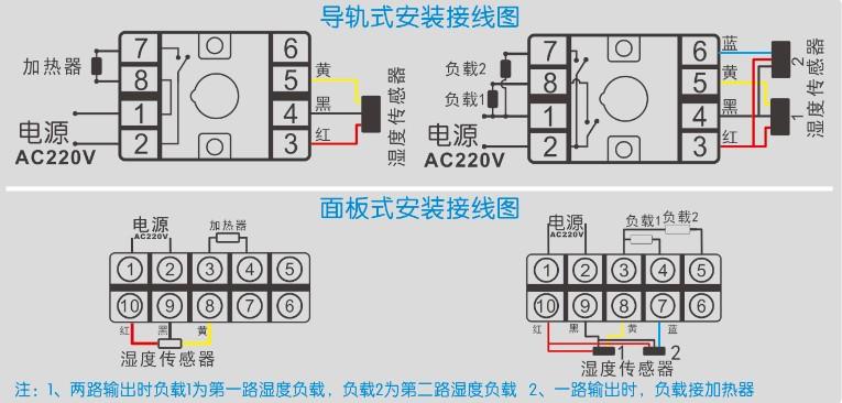 gc-8603系列智能湿度控制器的接线图